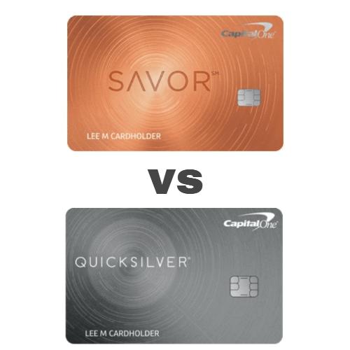 Capital One Quicksilver vs Savor: Credit Card Comparison