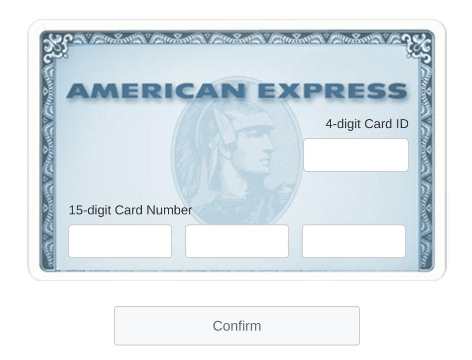 AmericanExpress.com ConfirmCard (AMEX Card Confirmation)