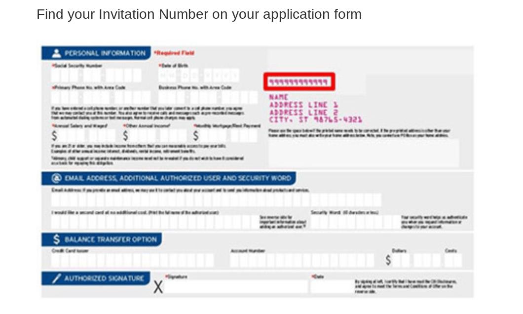 Citi.com Invitation Number Location