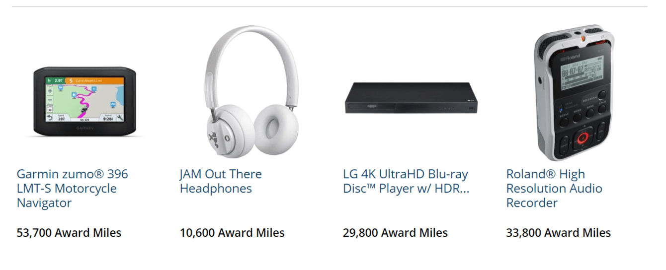 Online shopping with airline miles